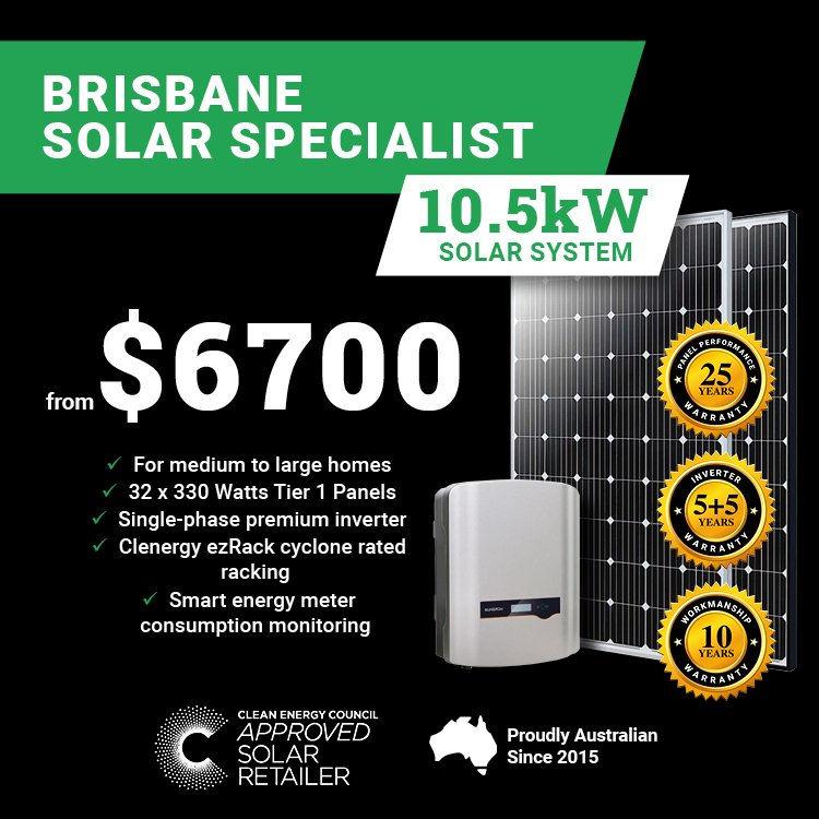 Brisbane 10.5kw Solar M