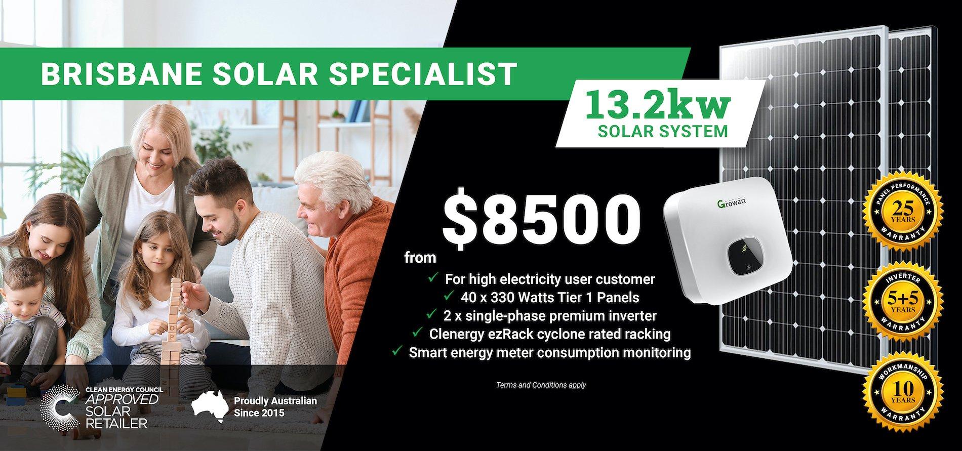 Brisbane 13.2kw Solar DT