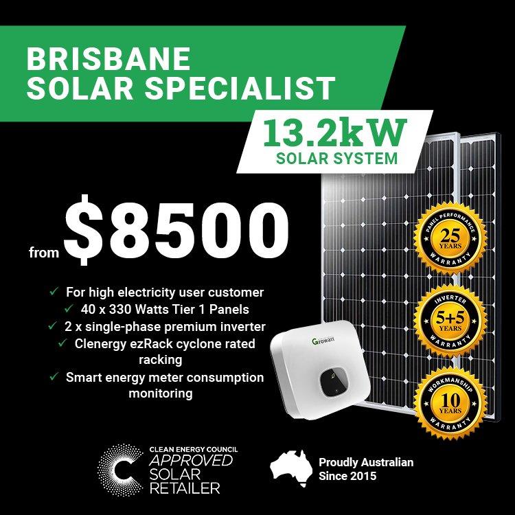 Brisbane 13.2kw Solar M