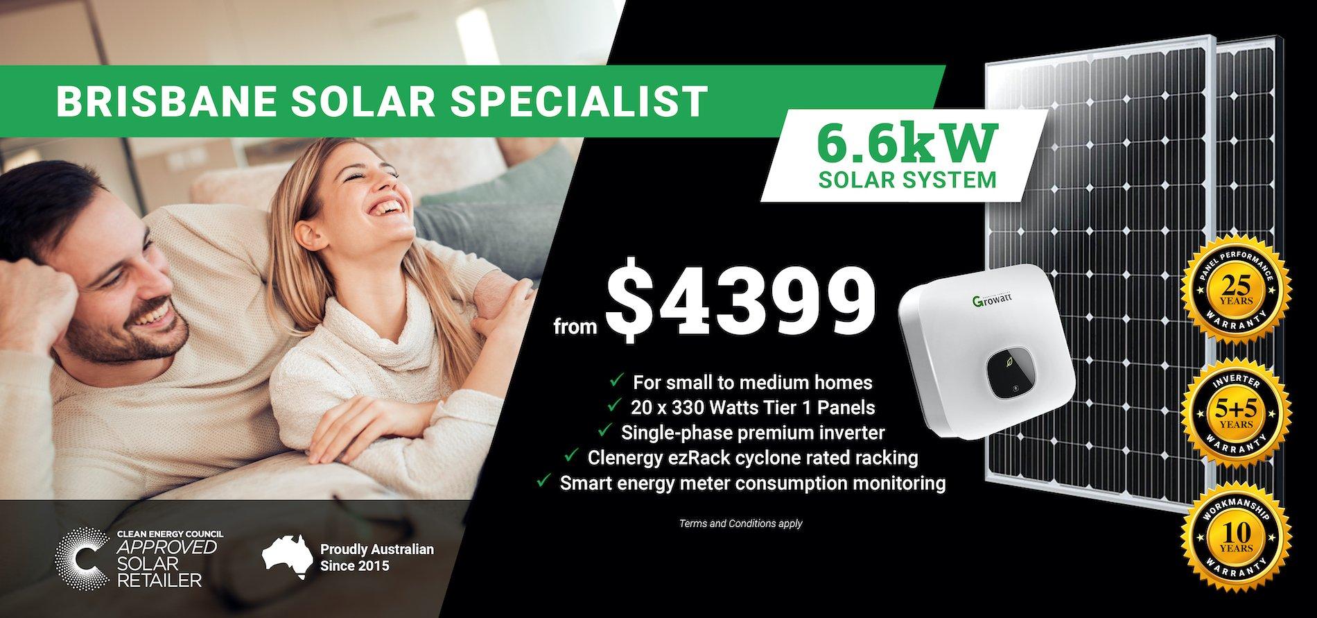 Brisbane 6.6kw Solar DT