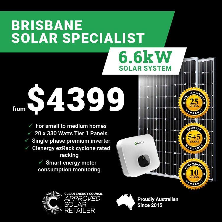 Brisbane 6.6kw Solar M