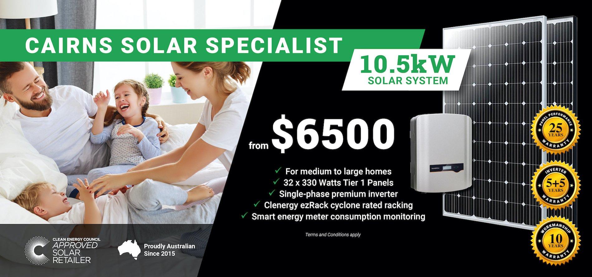Cairns 10.5kw Solar DT2
