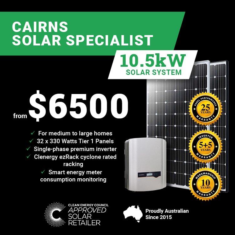 Cairns 10.5kw Solar M