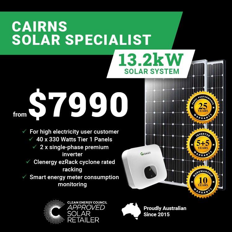 Cairns 13.2kw Solar M