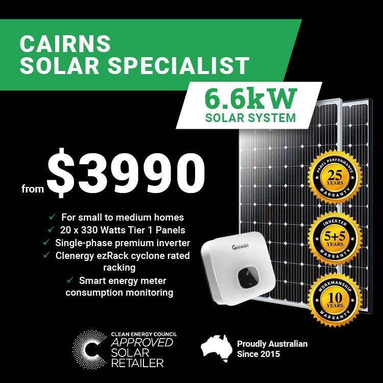 Cairns 6.6kw Solar M