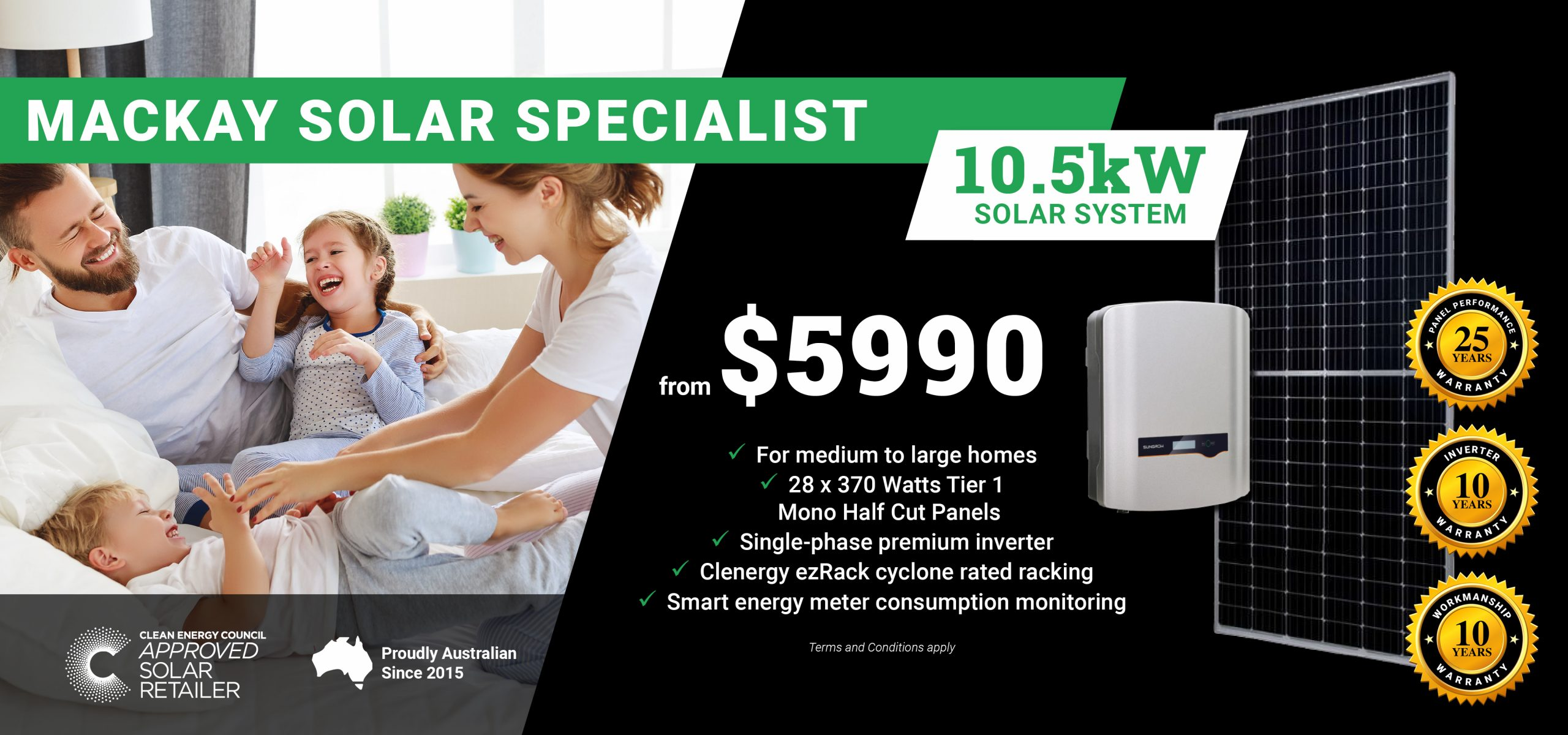 GreenCell Banners DT - Mackay10.5