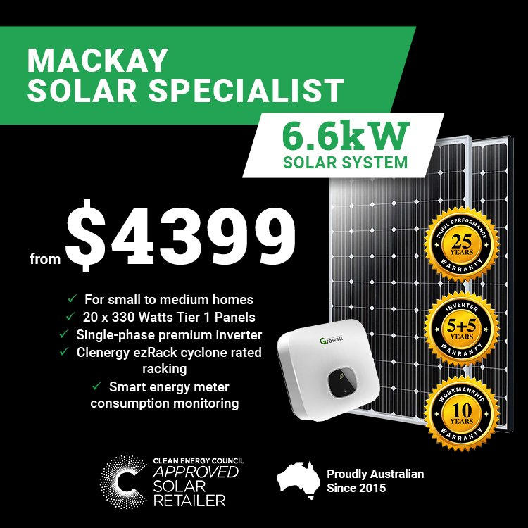 Mackay 6.6kw Solar M