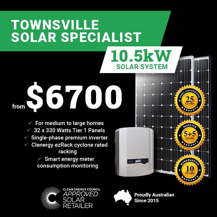 Townsville 10.5kw Solar M