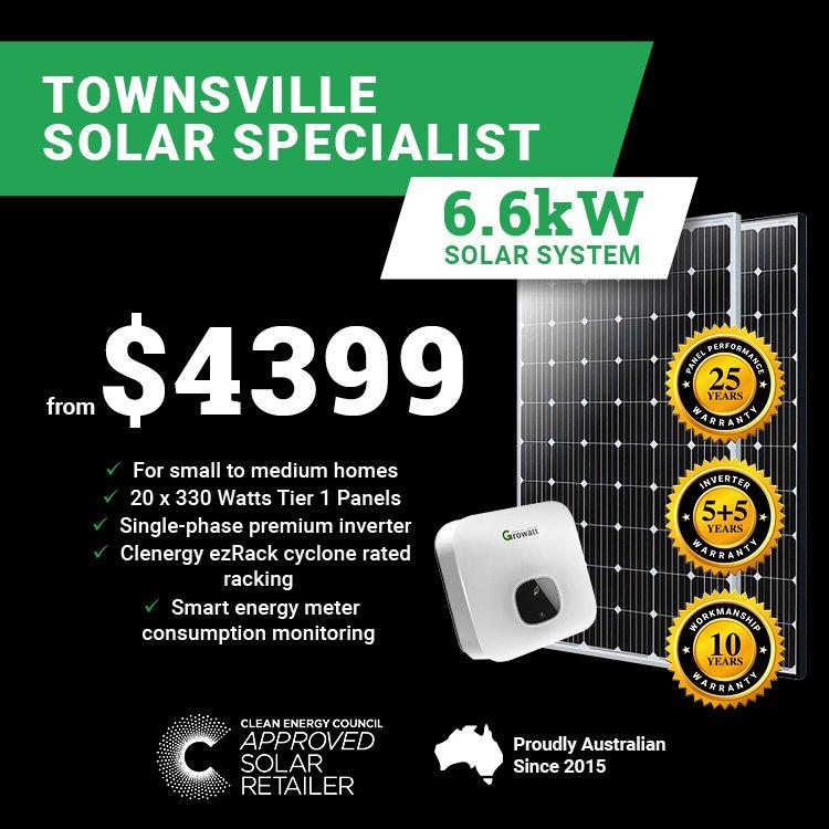 Townsville 6.6kw Solar M