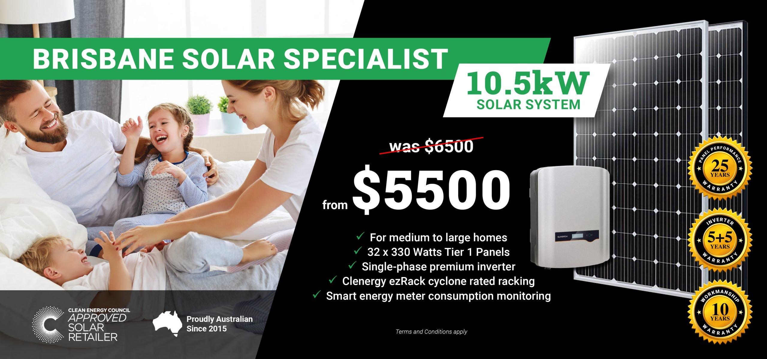 Brisbane 10.5kw Solar Special DT2