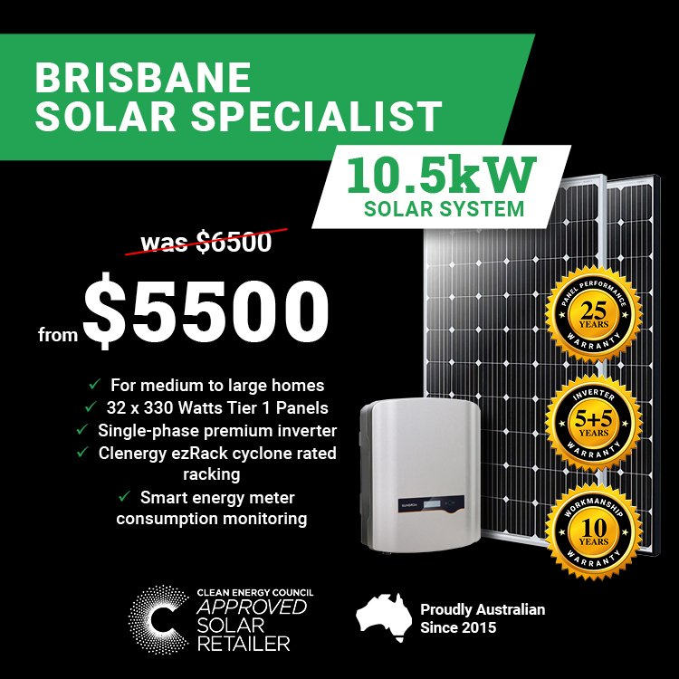 Brisbane 10.5kw Solar Special2