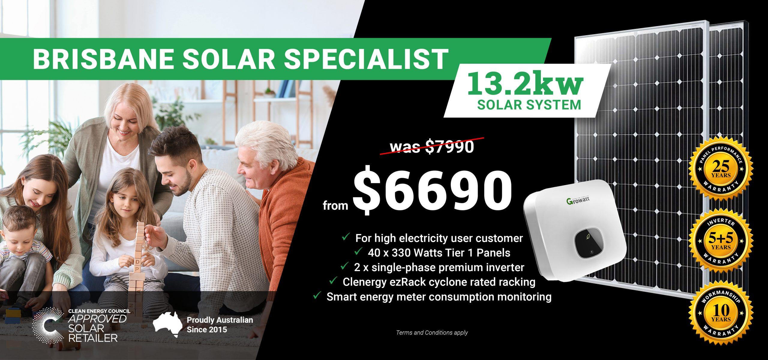Brisbane 13.2kw Solar Special DT2
