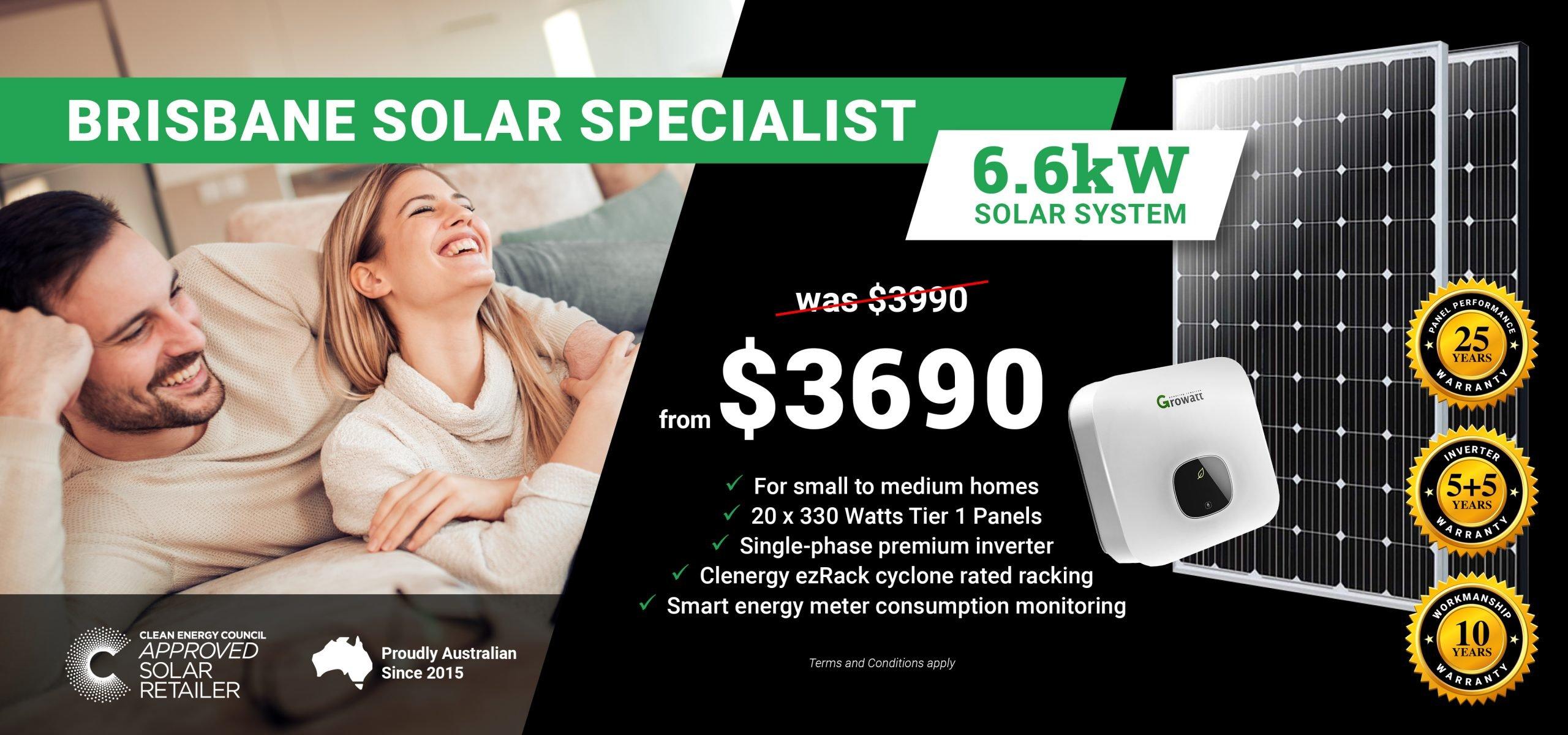 Brisbane 6.6kw Solar Special DT2