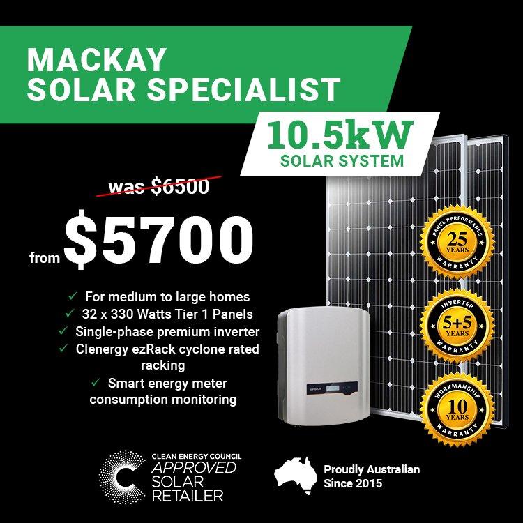 Mackay 10.5kw Solar Special