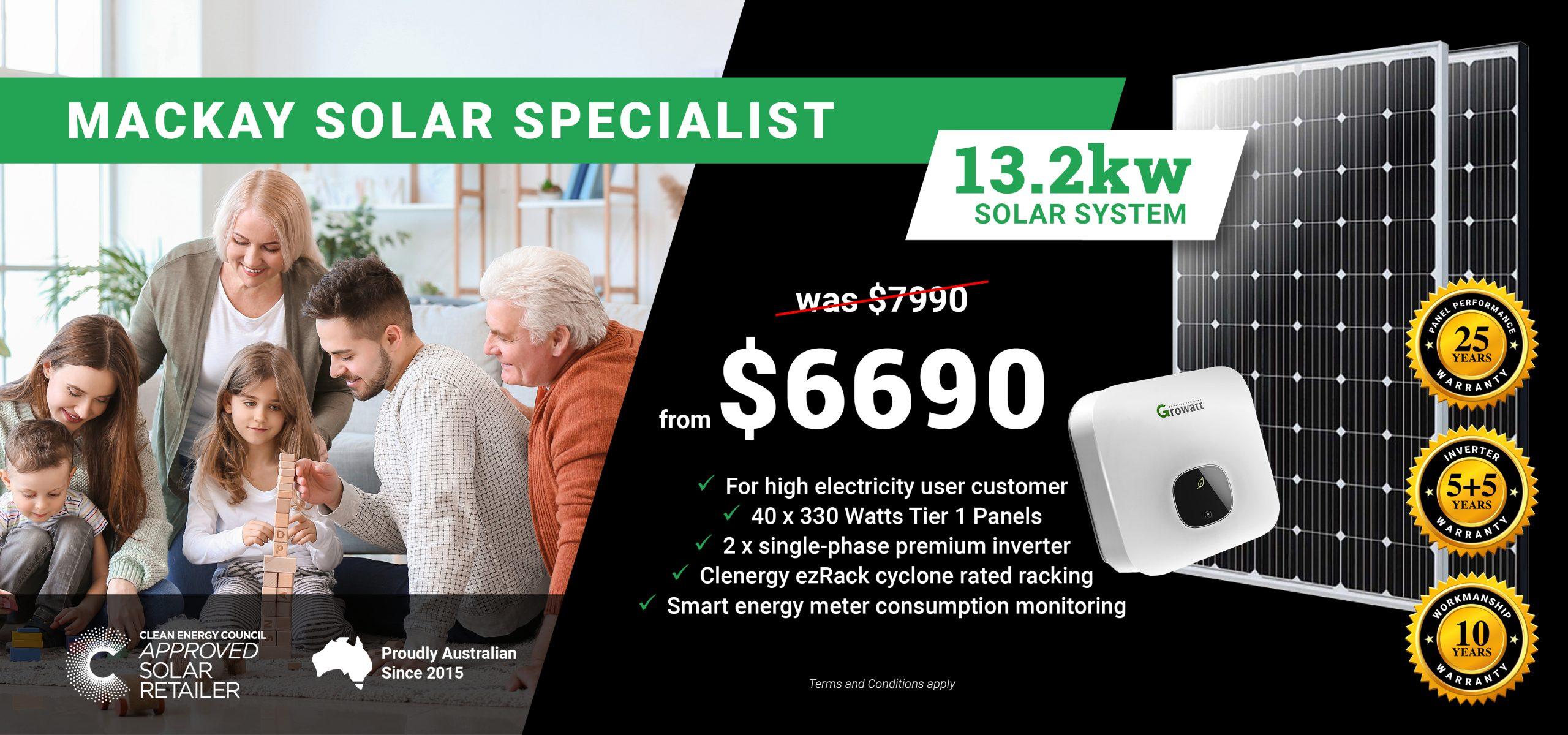 Mackay 13.2kw Solar Special DT